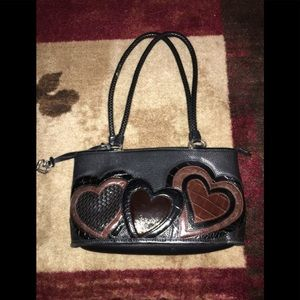 Brighton Black/Brown Leather Windsor Hearts